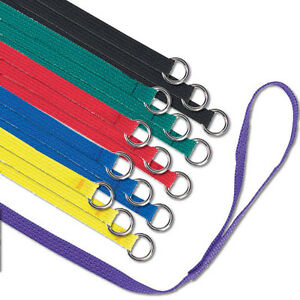"""BULK PACK LOT of 60 Slip Style Assorted Color Dog Kennel Lead Leashes - 6' x 1"""""""