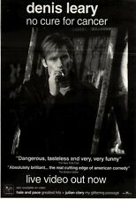 """27/11/93PGN27 DENNIS LEARY : NO CURE FOR CANCER LIVE VIDEO ADVERT 10X7"""""""