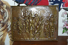 Captain Cook's Landing, Pressed brass picture