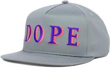 DOPE WEALTH Gray Snapback Adjustable Cap Hat $35