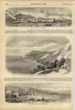 1858 Monaco de la mer bon voyage Vue de Menton