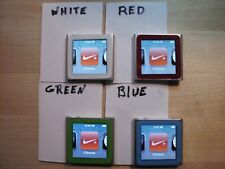 Apple 6th gen ipod nano 8GB silver - refurbished, your choice of 4 screen colors