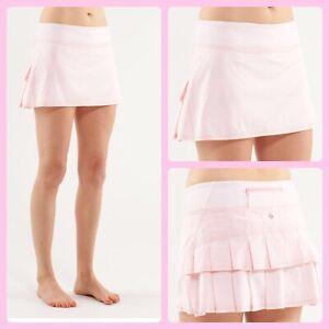 NWOT - RARE Lululemon  Shimmer Blush Quartz Pace Setter Skirt 4 Reg