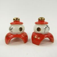 Vintage Salt Pepper Shakers Set Japan Painted Japanese Lanterns Moon Sun  *INV60