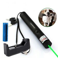10Mile Military Green Laser Pointer Pen 5mw 532nm Powerful Laser+Battery+Charger