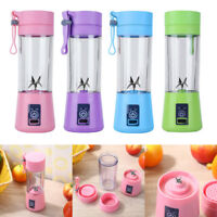 Rechargeable USB Mini Electric Fruit Juicer Smoothie Maker Blender Machine 380ml