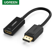 UGREEN DisplayPort DP Male to HDMI Female Adapter Cable For PC HP/DELL HDTV 4K