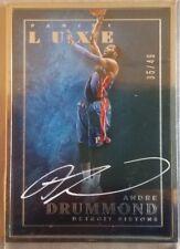 2015-16 Panini Luxe Autographs #60 Andre Drummond/49 Detroit Pistons NBA
