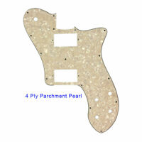 For US 72 Tele Deluxe Reissue Guitar Pickguard With PAF Humbucker, Ivory Pearl