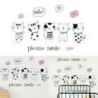 Pvc Home Room Cartoon Cat Wall Decal Stickers Bedroom Removable Decoration