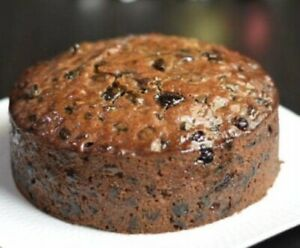 Luxury Fruit Cake With Brandy 6 Inch With 1.5 Inch Depth