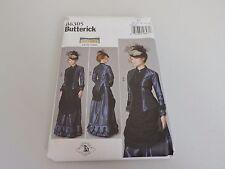 Butterick Sewing Pattern B6305 Victorian Making History 1870s Dress Costume 8-16