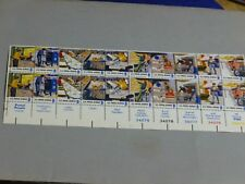 United States Scott  1489 - 1498, the Postal Employees Plate set of 20 Stamps