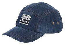Diesel Unisex Channel-D Cappello Baseball Hat Blue Denim Cap 00SW24 0CARD 01