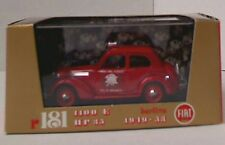 BRUMM R181B FIAT 1100E Belina Fire Service model car red body, roof siren 1:43rd
