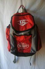Louisville Slugger Baseball BackPack  Red//Gray