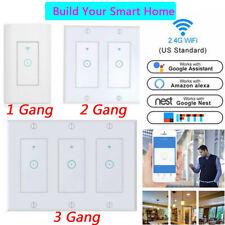 1/2/3 Gang Smart WiFi Wall Light Switch Panel Remote For Alexa Google Home IFTTT