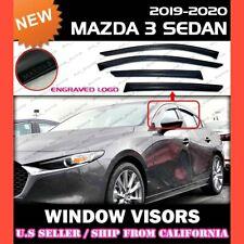 WINDOW VISORS for 2019 2020 Mazda 3 Sedan / DEFLECTOR RAIN GUARD VENT SHADE
