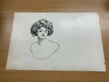 1902 CHARLES DANA GIBSON ANTIQUE LARGE DOUBLE-SIDED PRINT GIBSON GIRL #6