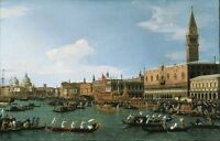 """perfect  36x24 oil painting handpainted on canvas """"Seascape of Venice """" NO1638"""