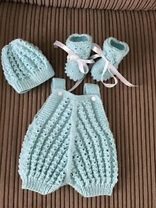 Hand Knitted Dolls Clothes To Fit 16-18 Inch Reborn Doll
