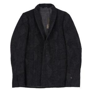LUMEN et UMBRA Dark Gray Patterned Effect Wool Jacket 40 (Eu 50) M