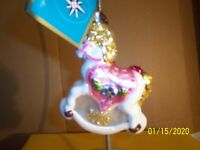 Christopher Radko Pony Joyful Pink 2006 Ornament & Radko Box NWT First Xmas
