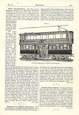 Pullmanns Doppelwagen für elektrische Strassenbahnen Historische Technik v. 1892