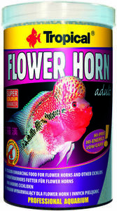 Tropical Flower Horn Adult Pellet 1000 ML Cichlids Fish Food
