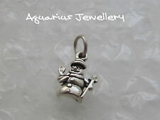 SNOWMAN STERLING SILVER CHRISTMAS CHARM WITH JUMP RING  FREE {GIFT BOX}
