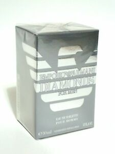 EMPORIO ARMANI GIORGIO DIAMONDS FOR MEN 1 OZ  PERFUME EDT SPRAY 30 ML NIB