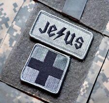 "US AFSOC DUSTOFF MEDEVAC PARARESCUE PJ burdock 2"" 2-TAB: JESUS + MEDIC CROSS"