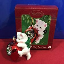 Heirloom Cat Ornament Carlton Cards Purr-fect Holiday 2002 New S4