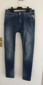Mens Replay MA931 JONDRILL Slim Skinny Stretch Blue Jeans