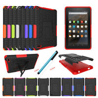 Shockproof Rugged Stand Rubber Case Cover For Amazon Kindle Fire 7 HD 7 8 Tablet