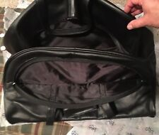 Royce Leather Organizer Duffel Bag with Shoe Compartment 690-3 Black Leather
