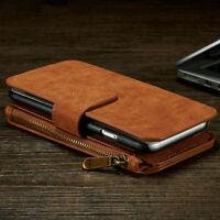 Samsung S20 plus Phone Case Cover -  Zip Coin Purse card cash slot Flip Leather