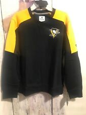 Fanatics Pittsburgh Penguins Pull Over Sweatshirt Yellow And Black Large