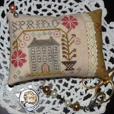 10% Off Abby Rose Designs Counted X-stitch chart - A Spring Pin Pillow