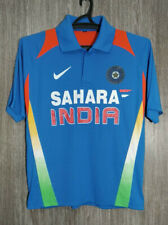 India Cricket National Team Sahara Shirt Jersey Blue Polo Mens Size M