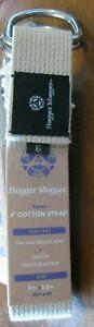 NEW without tags Hugger Mugger TAN 6-Foot Cinch Yoga Strap Natural Cotton USA