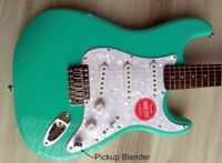 Fender Squier  Stratocaster Guitar Turbo+ SSS w/ Blender MOD Seafoam Strat NEW