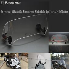 Universal Motorcycle Adjustable Windscreen Spoiler Windshield Wind Air Deflector