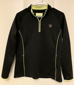 Wimbleton Championship Girls 16 Black Jacket Long Sleeve 1/4 Zip Pullover Tennis