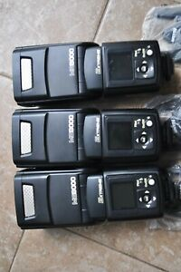Nissin MG8000 Extreme Flashes lot of 3 flashes for Nikon Digital SLR Cameras