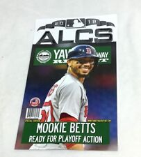 872cdccd5 2018 ALCS Championship Series Yawkey Way Report Red Sox Program Magazine  Betts