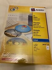 Avery White Inkjet CD Labels 100 Sheet Packs J8676-100