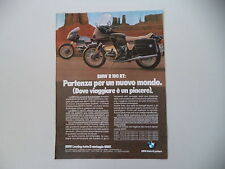 advertising Pubblicità 1980 MOTO BMW R 100 RT