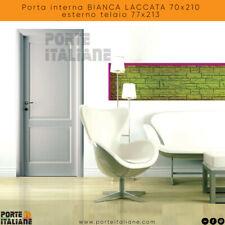 Porta interna BIANCA LACCATA 70x210 esterno telaio 77x213