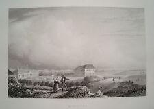 Norderney Nordsee Niedersachsen  echter  alter Stahlstich 1844